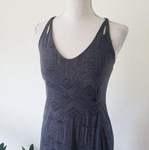 Athleta Knotted Nanda Maxi Dress Asphalt Gray
